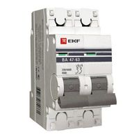 Автоматический выключатель  ВА 47-63, 2Р 63А (C) 4,5кА EKF PROxima