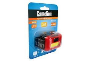 Фонарь Camelion LED5357 (фонарь налобн, COB LED красн., 1Вт, 3 реж, 3XAAA, пласт, блист) 10 13633