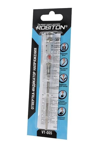 Инструмент ROBITON VT-005 отвертка индикаторная многофункциональная