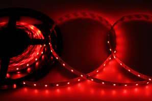 LED лента открытая, 8мм, IP23, SMD 2835, 60 LED-m, 12V, красная