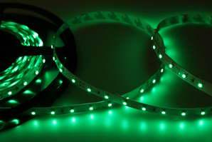 LED лента открытая, 8мм, IP23, SMD 2835, 60 LED-m, 12V, зеленая