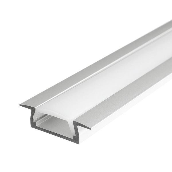 Алюминиевый профиль врезной 7x22х2000 для светодиодной ленты (цена за 2 м) (ПОД ЗАКАЗ)