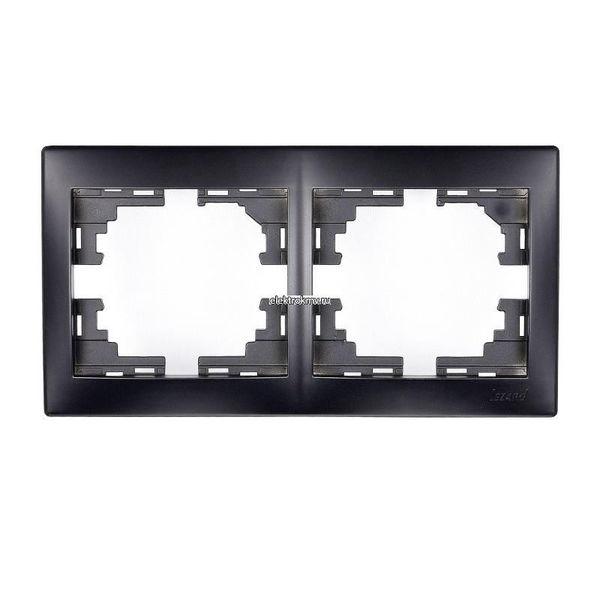 Рамка 2-ая горизонтальная черный бархат без вставки MIRA 701-4200-147