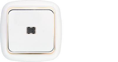 Выключатель 1 кл. с подсветкой С1 10-206 з