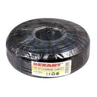 Кабель коаксиальный REXANT RG-6U, 75 Ом, CCS/Al/Al, 64%, черный OUTDOOR (наружный)