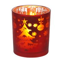Светодиодная свеча в стакане G16-NY-RED (красная)