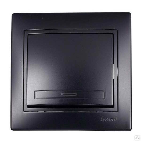 Выключатель Lezard Mira, 701-4242-100 черный бархат