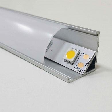 Алюминиевый угловой профиль 16x16 для светодиодной ленты (цена за 2 м)