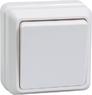 Выключатель 1-клавишный для открытой установки ВС20-1-0-ОБ 10А ОКТАВА белый IEK
