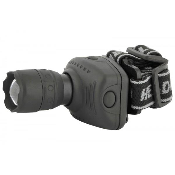 Фонарь Ultraflash LED 5354 (фонарь налобн, серый,1Ватт LED,ZOOM,3 реж, 3ХR03, пласт, коробк )1/20 11549
