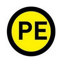 """Комплект наклеек из 10 шт. """"PE"""", р-р 1,5*1,5 см, цветн., с/к из пленки ПВХ, с подрезкой"""
