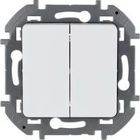 Legrand - Inspiria - Выключатель двухклавишный (белый) - Артикул: 673620
