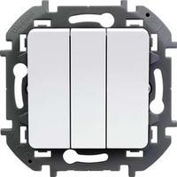 Legrand - Inspiria - Выключатель трехклавишный (белый) - Артикул: 673640