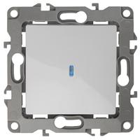 ЭРА Выключатель  с подсветкой, 10АХ-250В, Эра12, белый