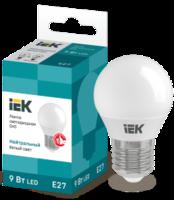 Лампа светодиодная G45 шар 9Вт 230В 4000К E27 IEK