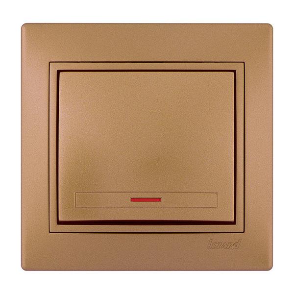 Выключатель 1 кл. с подсветкой