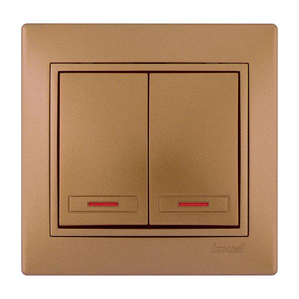 Выключатель 2 кл. с подсветкой