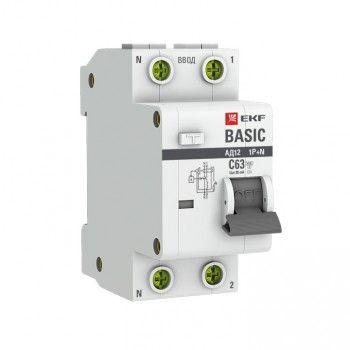 Дифференциальный автомат АД -12 16А/30мА тип АС х-ка C эл. 4,5кА EKF Basic