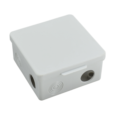 Коробка распределительная КР 80х80х50 мм, 7 вх. (гермовводы), IP54