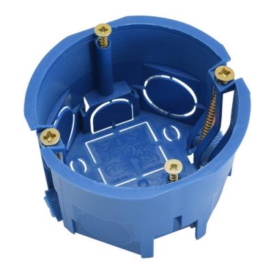 Подрозетник СЗЕ3 (гипс, d=68 мм, h=45 мм, IP30) синий