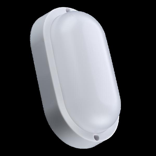Светильник светодиодный пыле-влагозащищенный 12 Вт, серия Button, овал