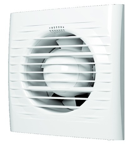 Осевой вытяжной вентилятор OPTIMA 4-02 d=100 с тяговым выключателем(цепочкой)