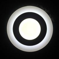 Светильник светодиодный 3+2W с декоративной подсветкой круглый,белый,IP 20