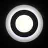 Светильник светодиодный 6+3W с декоративной подсветкой круглый,белый,IP 20