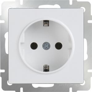 WERKEL WL01-SKG-01-IP20 / Розетка с заземлением (белая)