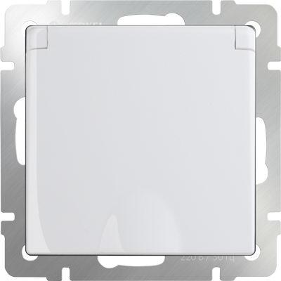 WERKEL WL01-SKGSC-01-IP44 / Розетка влагозащ. с зазем. с защит. крышкой и шторками (белая)