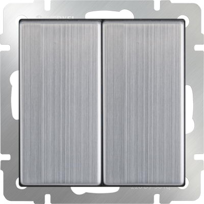 WERKEL WL02-SW-2G /Выключатель двухклавишный (глянцевый никель)