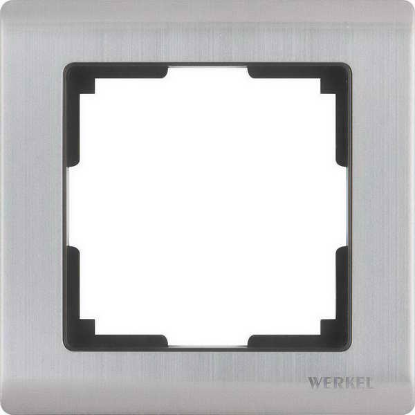 WL02-Frame-01/Рамка на 1 пост (глянцевый никель)