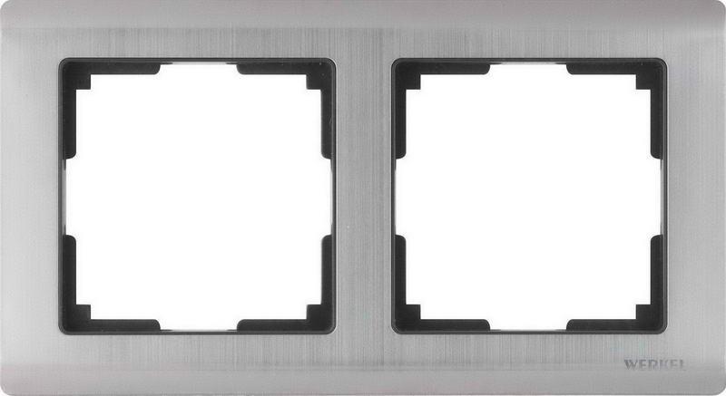 WL02-Frame-02/Рамка на 2 поста (глянцевый никель)