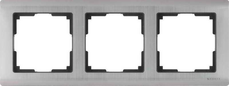 WL02-Frame-03/Рамка на 3 поста (глянцевый никель)