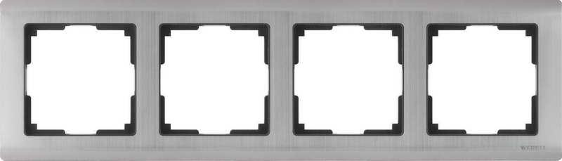 WL02-Frame-04/Рамка на 4 поста (глянцевый никель)