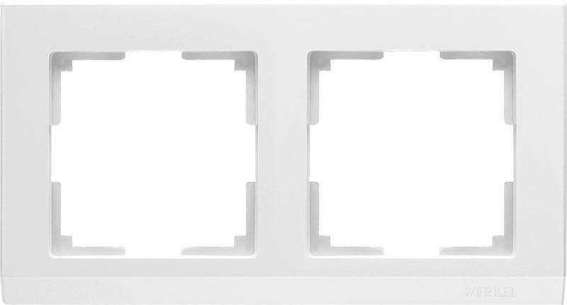 WL04-Frame-02-white/Рамка на 2 поста (белый)