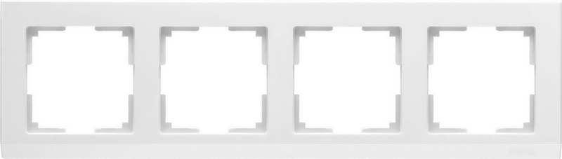 WL04-Frame-04-white/Рамка на 4 поста (белый)