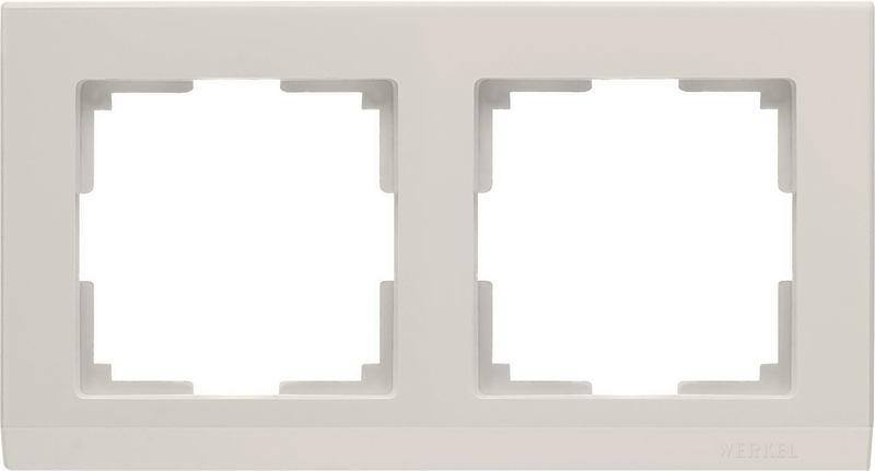 WL04-Frame-02-ivory/Рамка на 2 поста (слоновая кость)