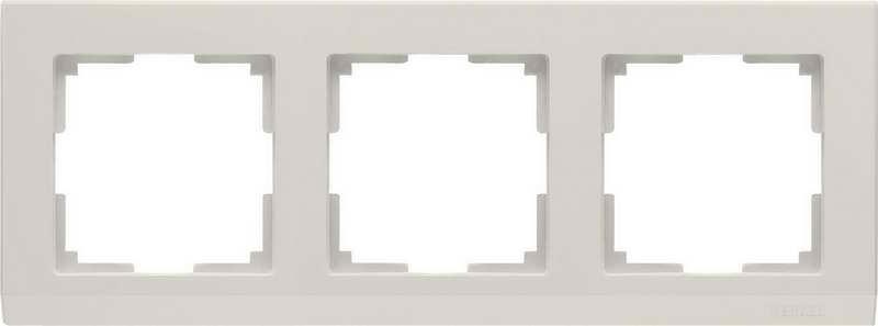 WL04-Frame-03-ivory/Рамка на 3 поста (слоновая кость)