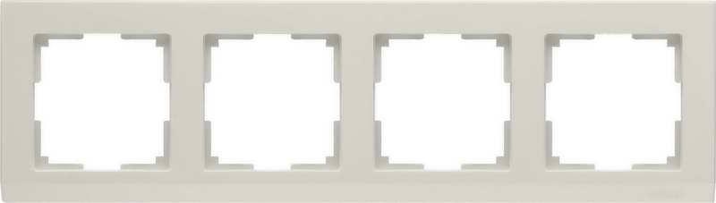 WL04-Frame-04-ivory/Рамка на 4 поста (слоновая кость)