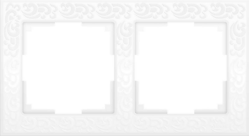 WL05-Frame-02-white/Рамка на 2 поста (белый)