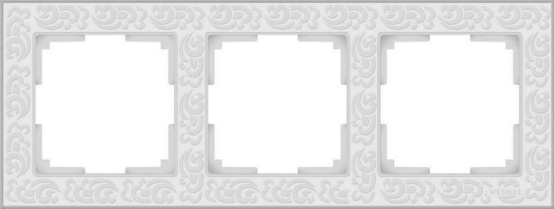 WL05-Frame-03-white/Рамка на 3 поста (белый)
