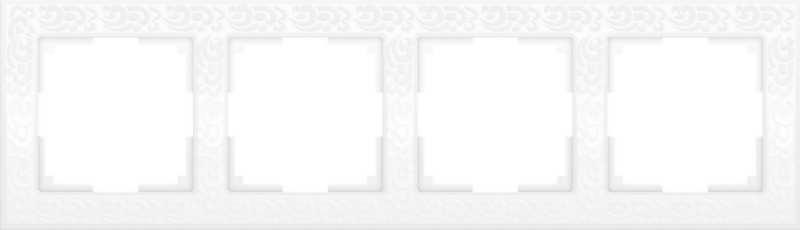 WL05-Frame-04-white/Рамка на 4 поста (белый)