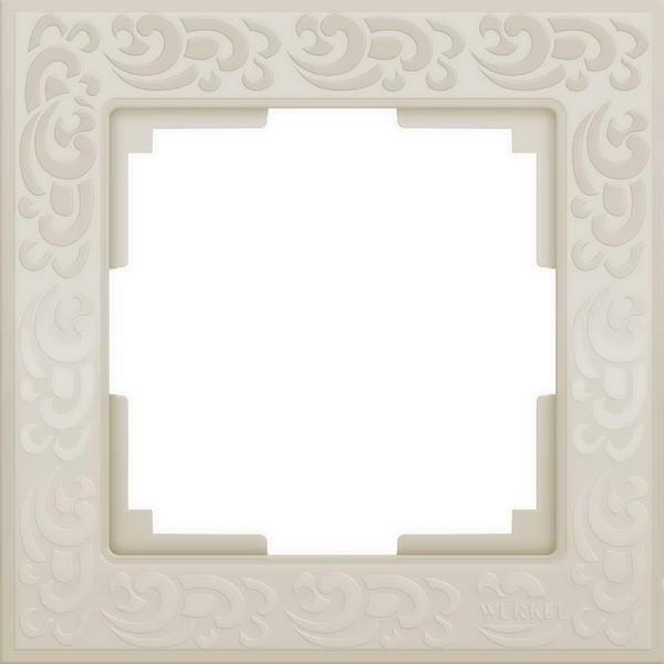 WL05-Frame-01-ivory/Рамка на 1 пост (слоновая кость)