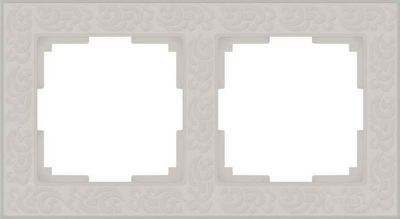 WL05-Frame-02-ivory/Рамка на 2 поста (слоновая кость)