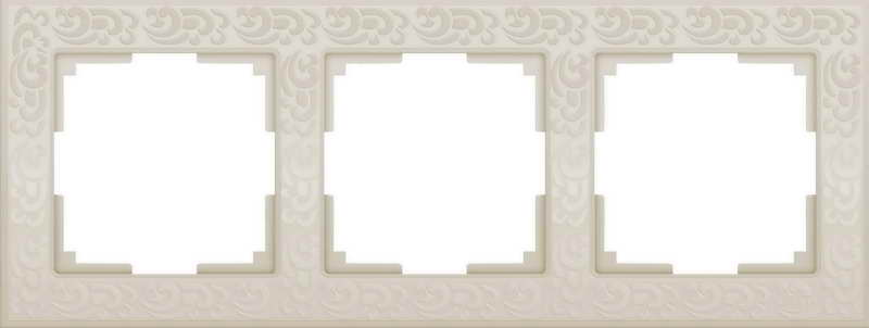 WL05-Frame-03-ivory/Рамка на 3 поста (слоновая кость)