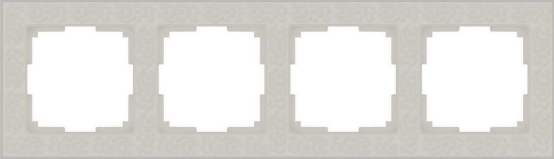 WL05-Frame-04-ivory/Рамка на 4 поста (слоновая кость)