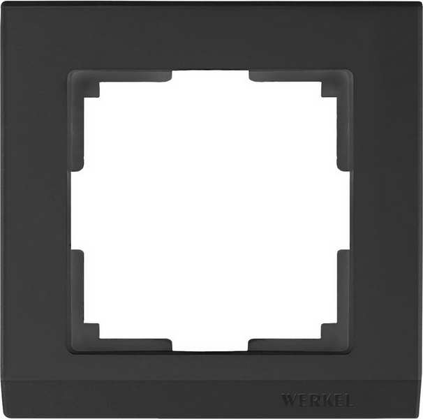 WL04-Frame-01-black/Рамка на 1 пост (черный)