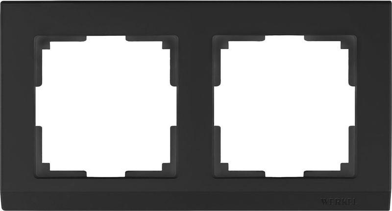 WL04-Frame-02/Рамка на 2 поста (черный)
