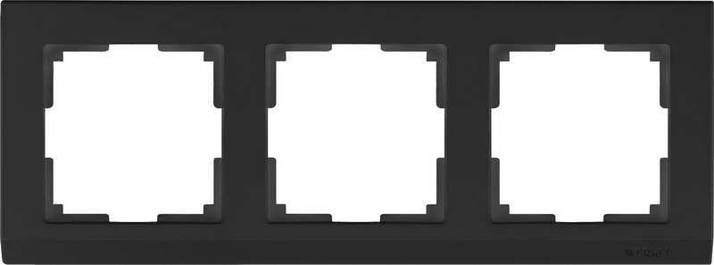 WL04-Frame-03-black/Рамка на 3 поста (черный)